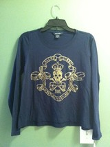 RALPH LAUREN TEENAGE GIRLS NEW NAVY 100%COTTON TOP SIZE XL(16) - $32.82