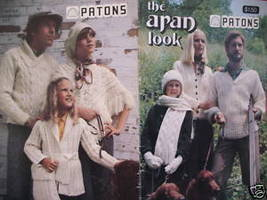 Aran Arran Sweaters Cardigans Pullovers Knitting Patterns Adults Children  - $9.95