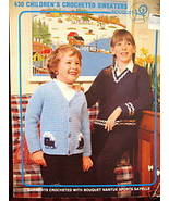 Crocheted PULLOVER SWEATERS CARDIGANS CROCHET Patterns CHILDRENS - $3.95