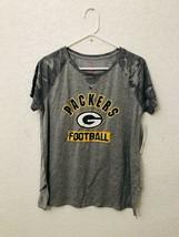 NFL Greenbay Packers Girls Short Sleeve Front Knot T-shirt L 11/13 - $14.49