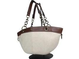 Auth BURBERRY LONDON BLUE LABEL Hemp, Leather Chain Shoulder Bag BS17723L - $189.00