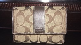 Coach Monogrammed Trifold Wallet - $65.00