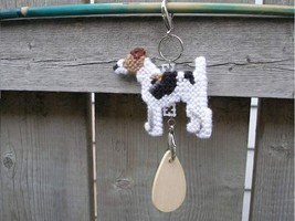 Smooth Fox Terrier dog crate tag or home decor, hang it anywhere, hand s... - $14.00