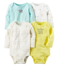 "Carter's Baby Carter's 4-pk. Long Sleeve ""Super Cute"" Bodysuits New Born... - $17.99"