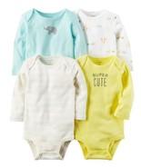 "Carter's Baby Carter's 4-pk. Long Sleeve ""Super Cute"" Bodysuits New Born... - $17.99"