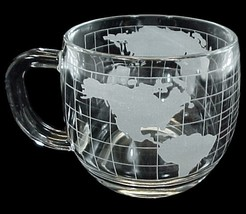 Nescafe Nestle World Globe Coffee Mug Glass Drink Cup Souvenir Advertising - $6.00