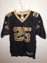 Reebok NFL New Orleans Saints Reggie Bush 25 Jersey Black Gold Youth Lar... - $17.07