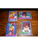 Lot of 4 Sailor Moon trading cards Lot #8 - $10.00