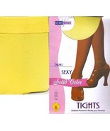 YELLOW OPAQUE TIGHTS ADULT SMALL - $6.00