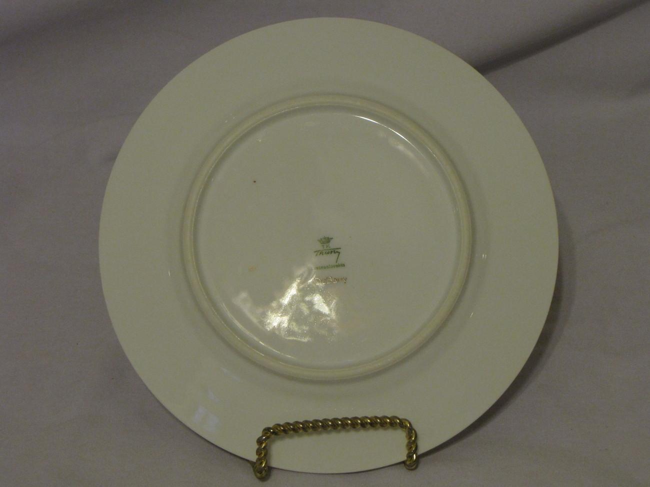 TK Thuny DuBarry Salad Plate Czechoslovakia