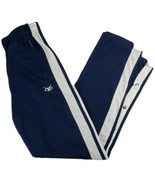 Vintage Voit Basketball Athletic Tear Away Pants Large Navy Snap Zip Poc... - $27.99
