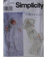 Simplicity 8853 Newborn Infants Christening Gown Coat Slip Bonnet Sizes ... - $14.00