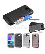 Samsung GALAXY J3 Emerge Hybrid Shockproof Rugged Card Holder Case Cover... - $6.37