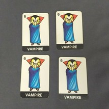 Fantasy Forest Board Game 1980 TSR HOBBIES INC 1982 Replacement Cards 4 Vampires - $4.99