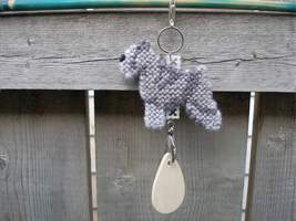 Miniature Schnauzer dog crate tag, kennel art or home decor handmade nee... - $14.00
