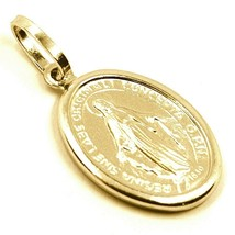 18K YELLOW GOLD MIRACULOUS MEDAL VIRGIN MARY MADONNA, 1.6 CM, 0.63 INCHES image 2