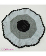 Cat Bed Crochet Crate Mat Sleep Dog Pet Blanket Washable Acrylic Black Gray - $9.99