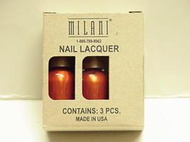 Milani  1- 3 Bottle (.045 fl. oz) Package Metallic Mango Nail Lacquer - $5.93