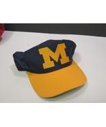 Vintage Michigan Wolverines Blue Gold Block M Snapback Cap Hat - $14.85