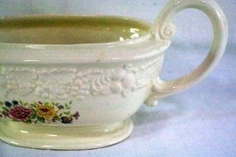 Homer Laughlin Floral TH6 M47N5 Footed Gravy Boat image 2