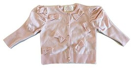 Kate Mack Baby Girls' Bows Button-Front Cardigan Sweater in Pink 24M - $34.23