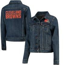 Levi's Cleveland Browns Women's NFL Sports Denim Trucker Button Jacket S... - $84.11