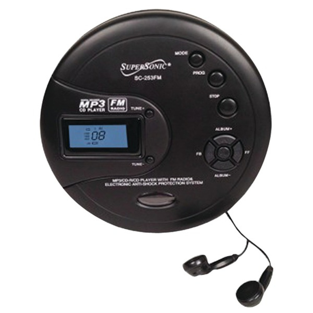 Primary image for Supersonic SC-253FM Personal MP3/CD Player with FM Radio