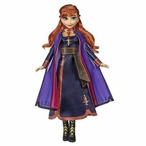 Disney Frozen Singing Anna Fashion Doll with Music Wearing A Purple Dres... - $31.34