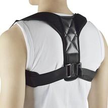 Back Posture Corrector Clavicle Brace Support 1 PC Adjustable Figure Black - £16.24 GBP