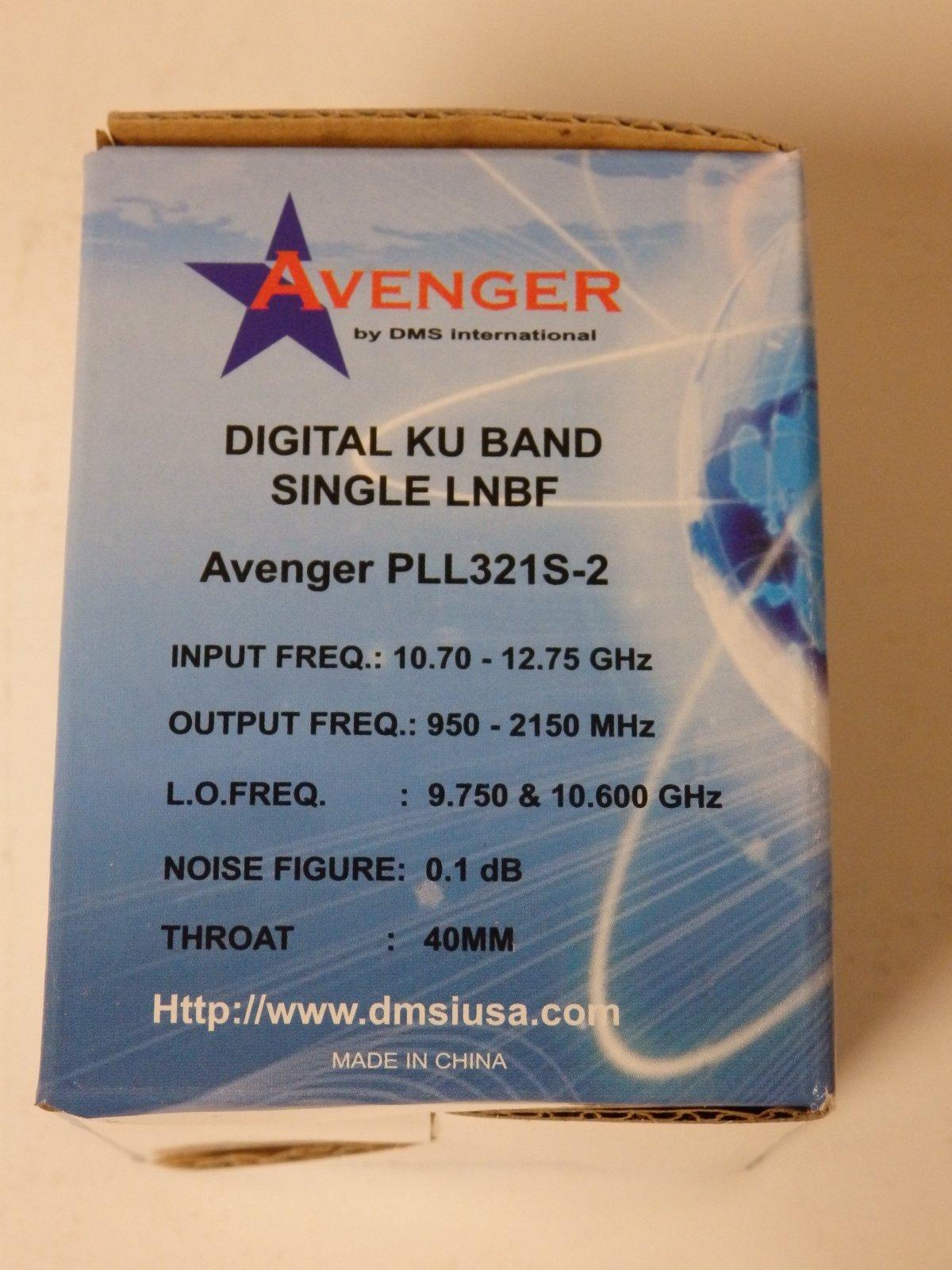 Avenger PLL321S-2 PLL Universal Single Ku LNBF
