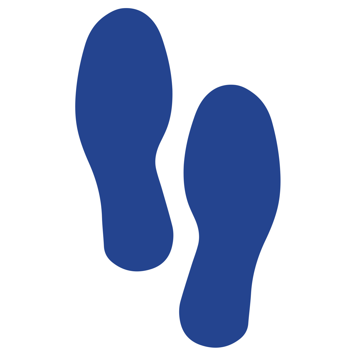 Primary image for LiteMark Large Size Blue Removable Footprint Decals  - Pack of 8 (4 Pairs)