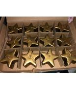 "FLOATING CANDLES - Star Shaped - Gold 1"" - Set Of 12 Per Box NEW NIB - $6.99"