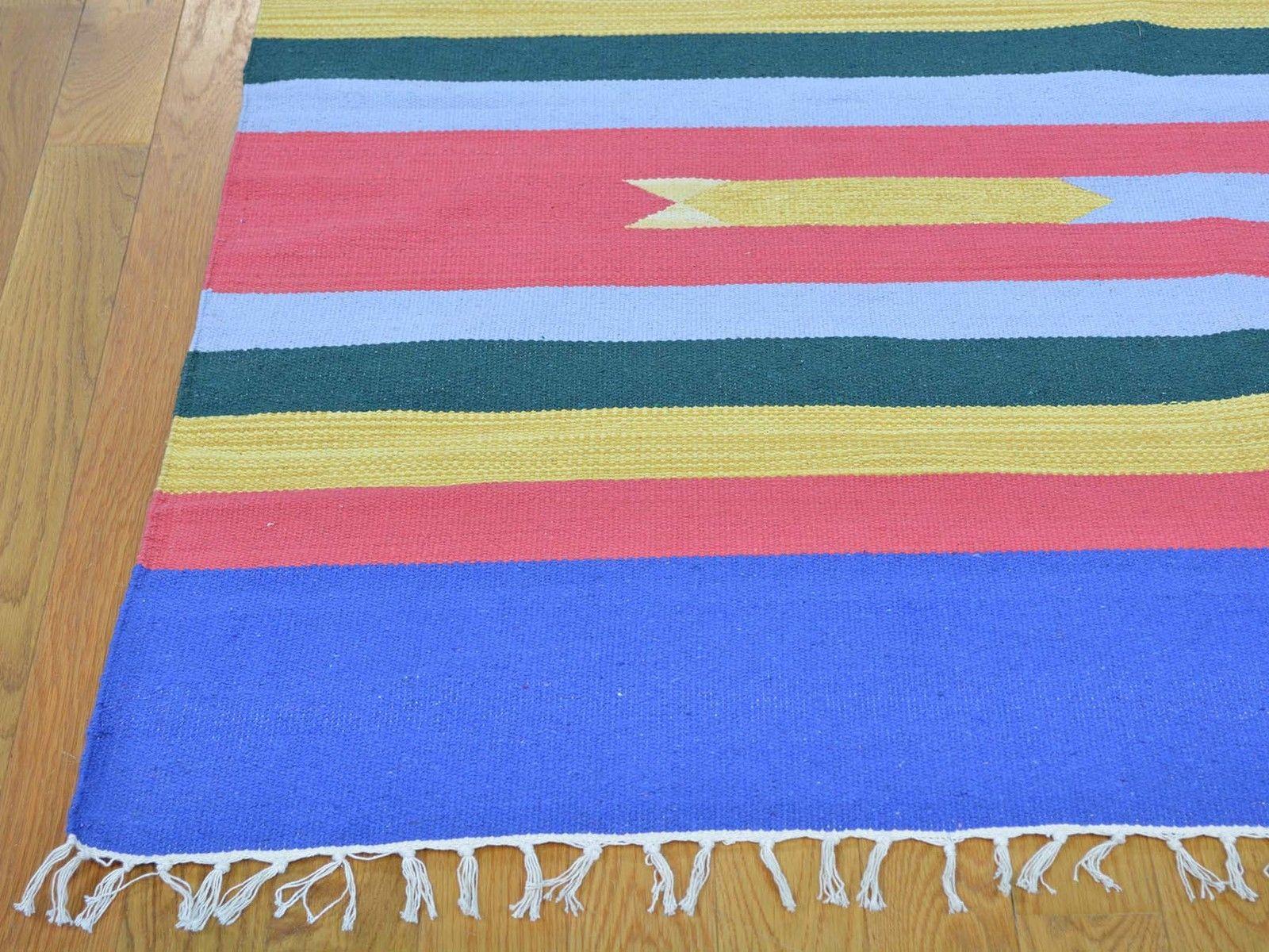 "10'x14'5"" Hand Woven Killim Southwest Design Flat Weave Pure Wool Rug G26105"