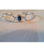 Sterling Silver Cuff Bracelet Turquoise Stone 925 Sterling - $44.55