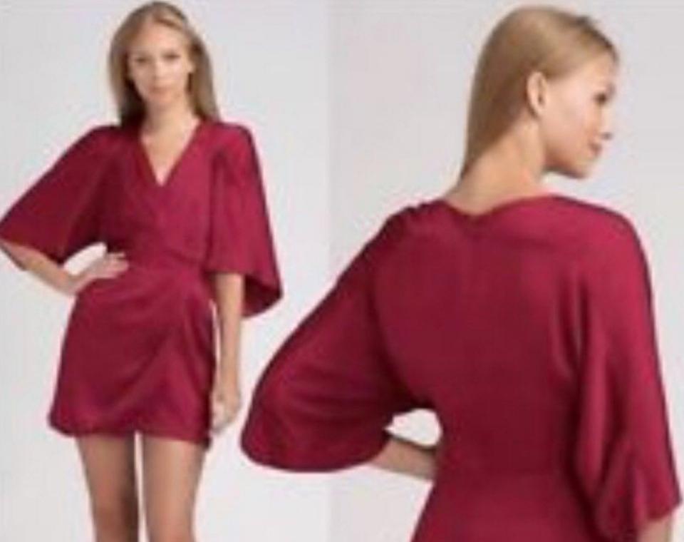 BCBGMAXAZRIA Red Cocktail Dress Size: 6