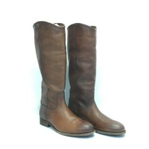 Frye Leather Tall Shaft Boots - Melissa Button 2, Cognac, US Size 9 M (A... - $130.49