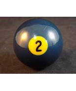 Vintage BAKELITE #2 POOL BALL BLUE Billiard Ball Craft Decor - $9.89