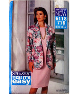 Vintage See & Sew Now 6118 Sewing Pattern, Spring Jacket and Dress Loose... - $10.00