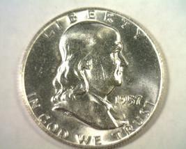 1957-D FRANKLIN HALF DOLLAR CHOICE UNCIRCULATED CH. UNC. NICE ORIGINAL COIN - $22.00