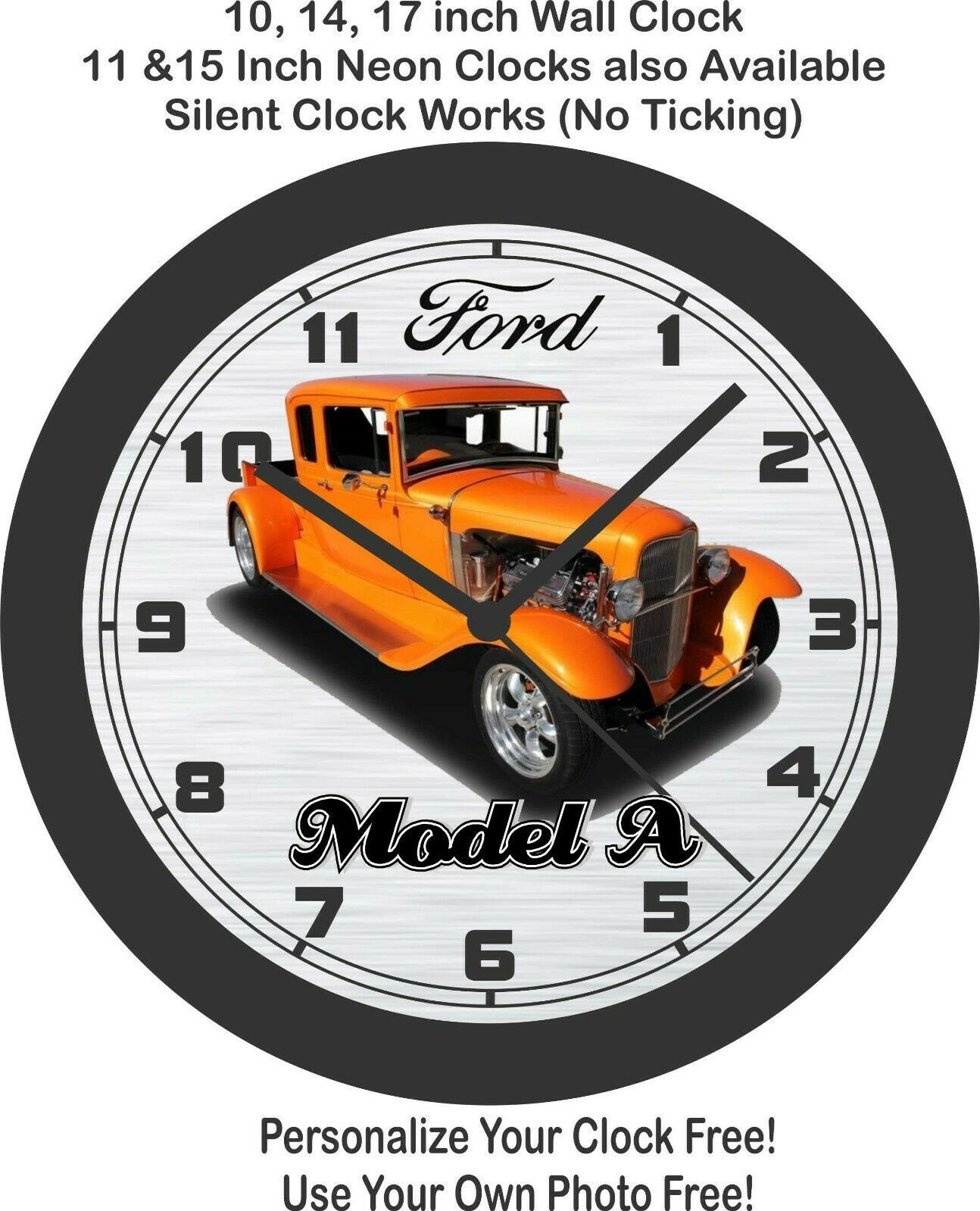 Primary image for 1930 Ford Model A Street Rod Wall Clock-Free US Ship, Choose 1 of 3