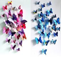 12Pcs 3D Butterfly Wall Sticker Fridge Magnet Home Decor Art Applique - $9.36