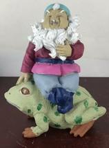 Vintage Man Sitting On Frog Figurine - £9.07 GBP