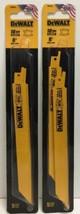 "(New) DEWALT DW4821 8"" 18-TPI  Bi-Metal Reciprocating Saw Blade  Pack of 2 - $23.75"