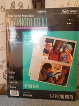 New Rembrandt ULTRA-PRO 5 X 7 Photo Refill Pages Acid Free Pack of 10 - $6.65