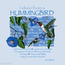 BIRD T shirt Advice From Nature Hummingbird Cotton NWT New Cotton Gildan Blue - $20.20