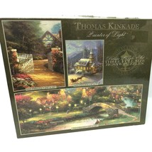 Three Deluxe Jigsaw Puzzles In One Box - $15.88