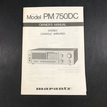Marantz Model PM 750DC Stereo Console Amplifier Owner's Manual Only Y6 - $21.38