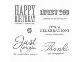 Stampin' Up! Afterthoughts Rubber Cling Stamp Set #120121