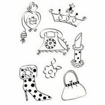 Sizzix Posh Princess Stamp Set