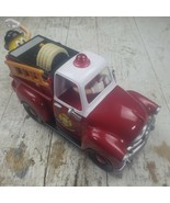 M&M Reds Firehouse Fire Truck Yellow Red Characters Candy Dispenser w box - $22.99